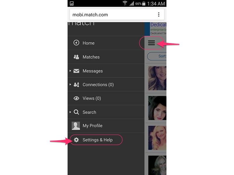 Select Settings & Help.
