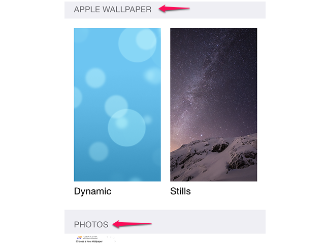 How to load iPhone dynamic and stills wallpapers