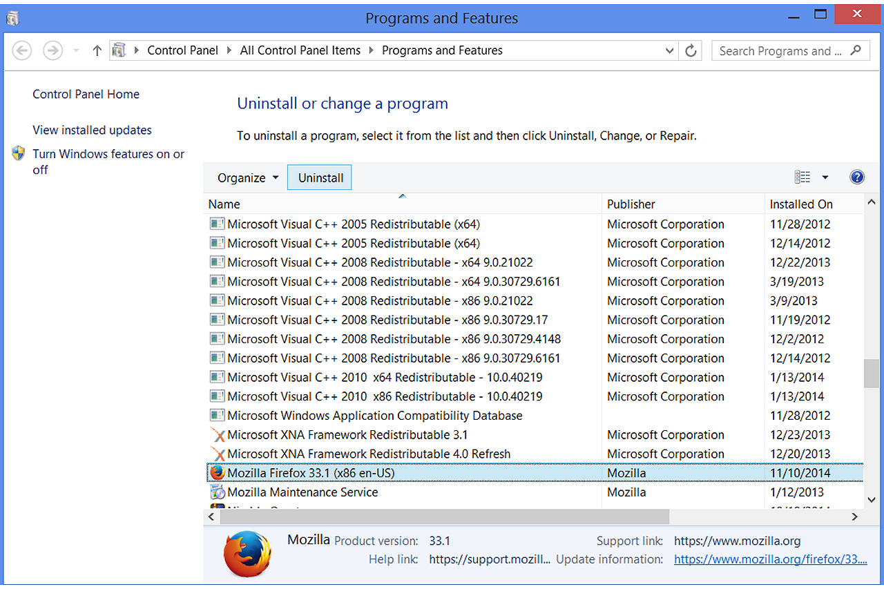 how to find the version of firefox