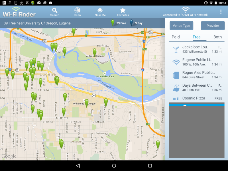 WiFi Finder on Android