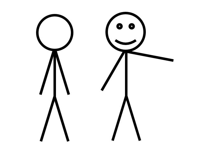 how to create a stick figure in visio