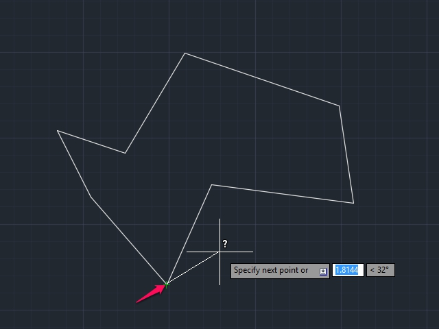 Click the first intersection to measure from.