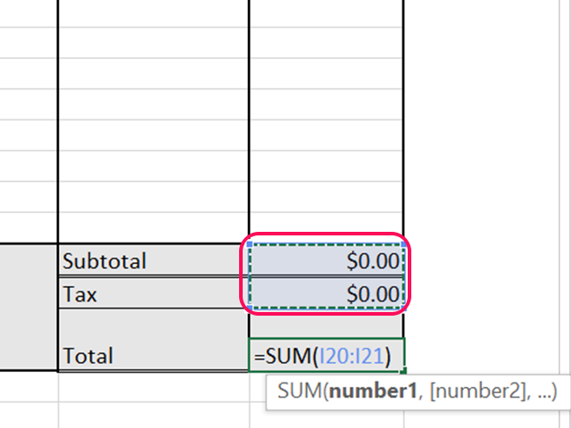 Add the tax to the subtotal to calculate the total price.