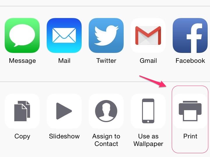Tap the print icon.