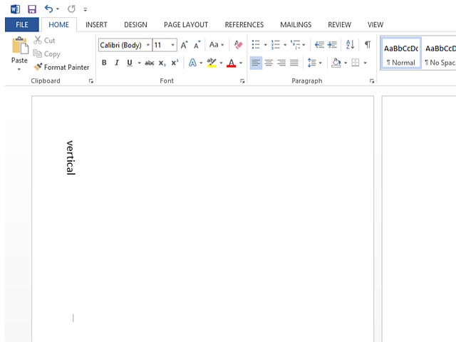 bHow to Create Vertical Type in a Word Document