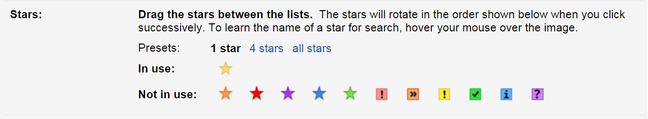 You can select stars and other icons in the stars section under settings.