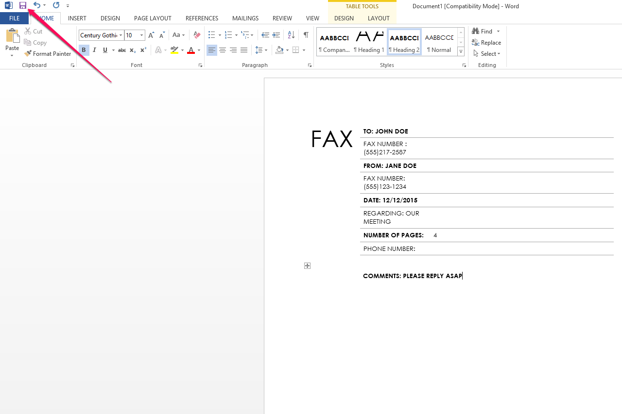 How Can I Get to the Blank Fax Coversheet Within Microsoft Word – How to Format a Fax