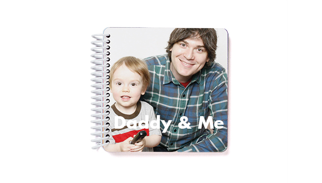 Daddy and Me Board Book from Pinhole Press is a unique photo gift for dad