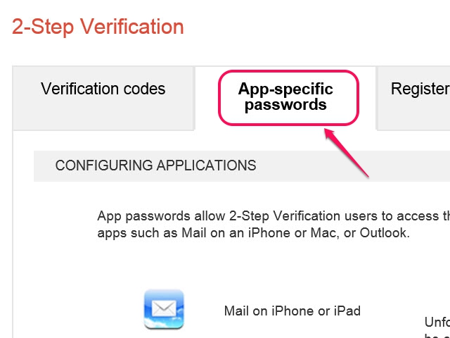 Verification Codes, Registered Computers and Security Keys are the other available tabs.
