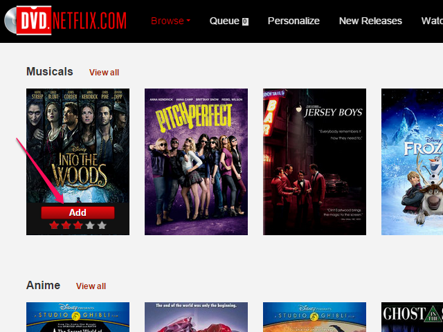 netflix how to add to queue