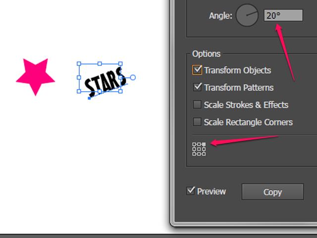 Closeup of the Angle rotation feature.