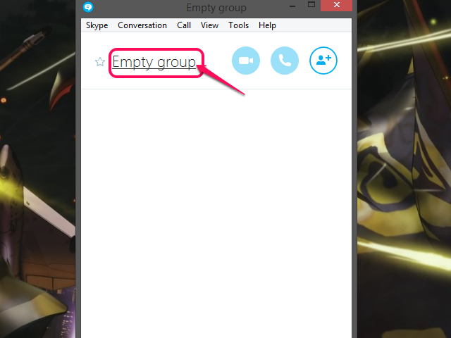 Click Empty Group.