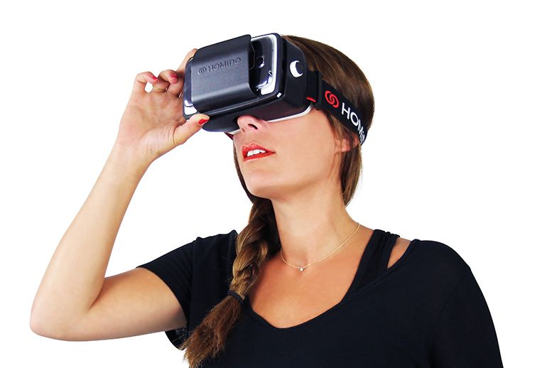 A VR headset should be well balanced and securely strapped to your head.