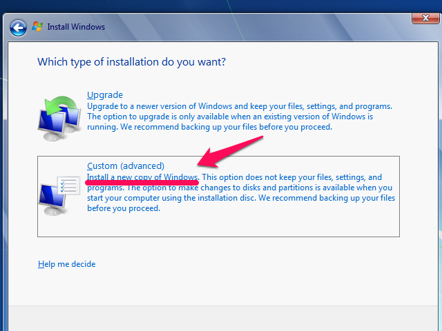 Install a New Copy of Windows