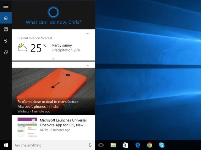 Microsoft's Cortana digital assistant.