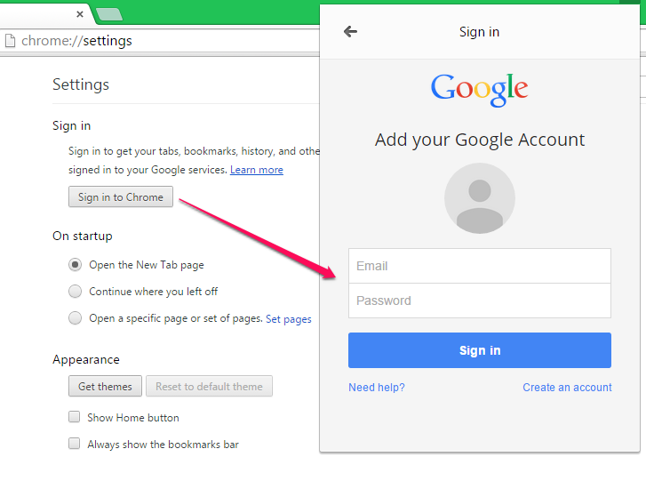 Sign in with a Google Account