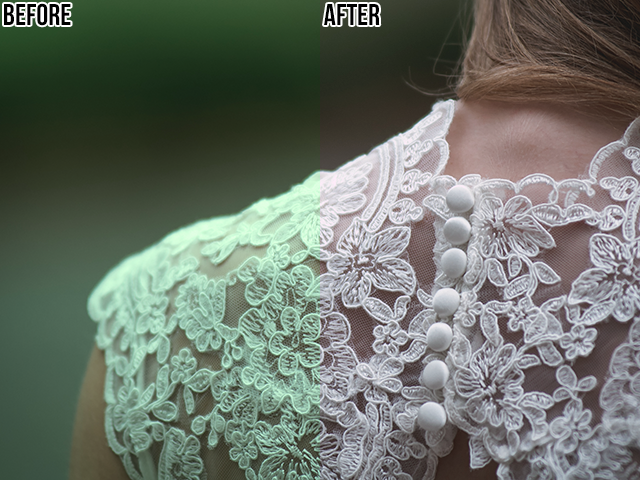 A comparison of a photo before and after being adjusted with a photo filter in Photoshop.