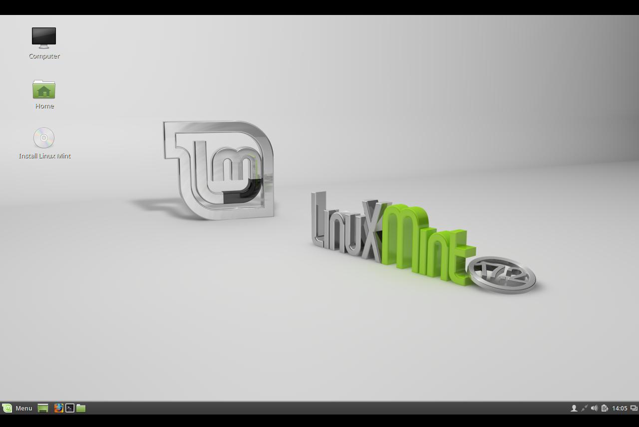 Linux Mint with Cinnamon UI