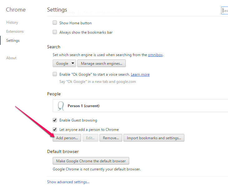 how to delete search options on google chrome