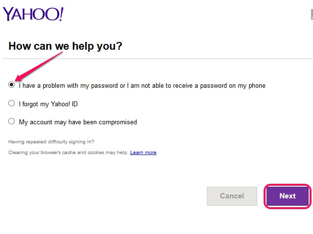 how to get my yahoo account password