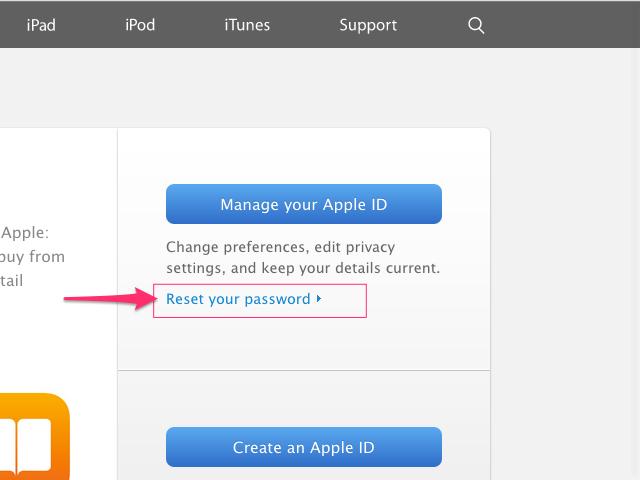 My Apple ID website (Chrome)
