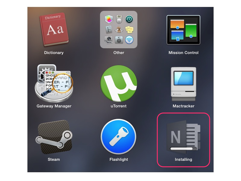Viewing new apps in Launchpad