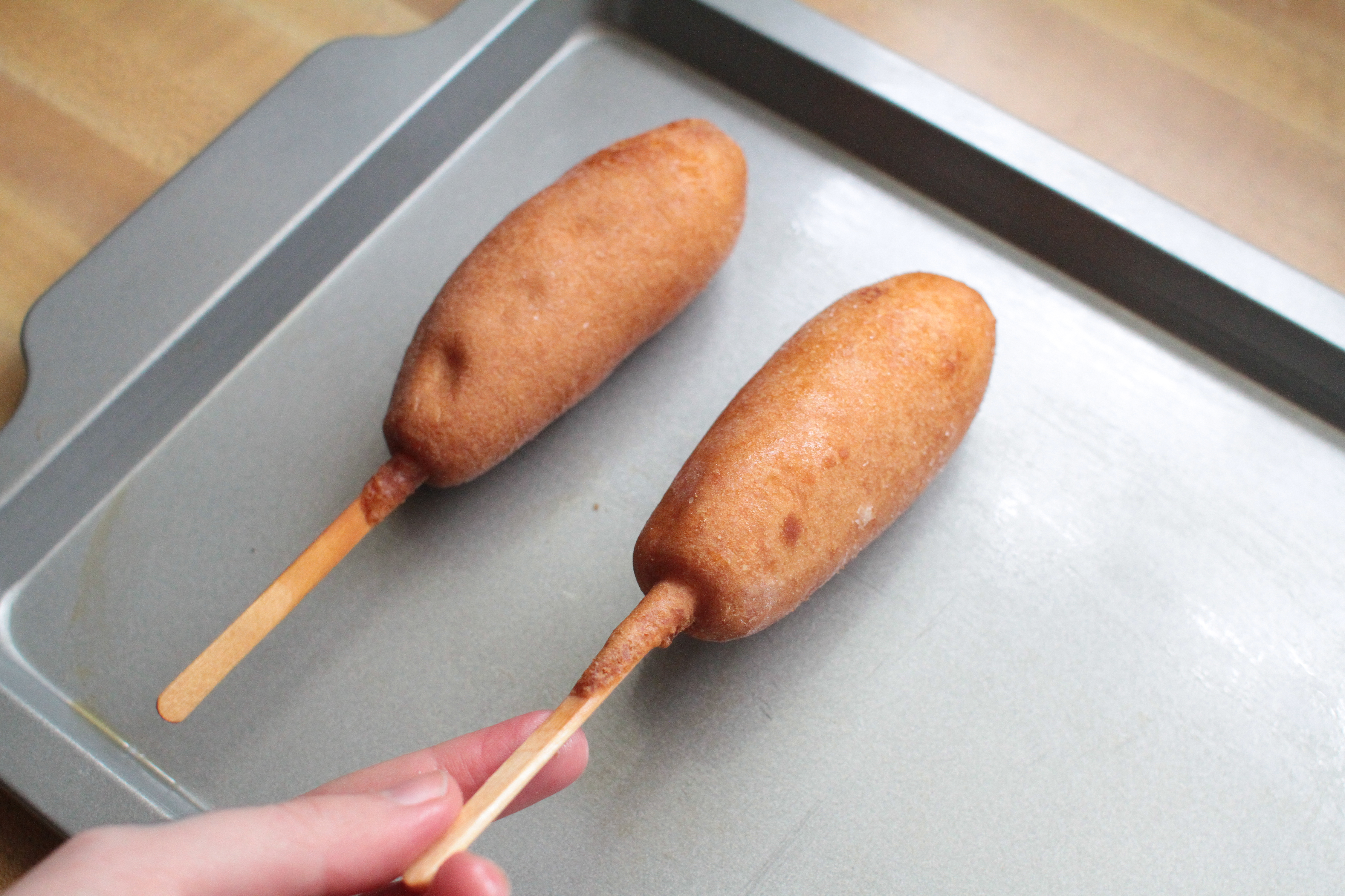 how to make a corn dog crispy in the microwave