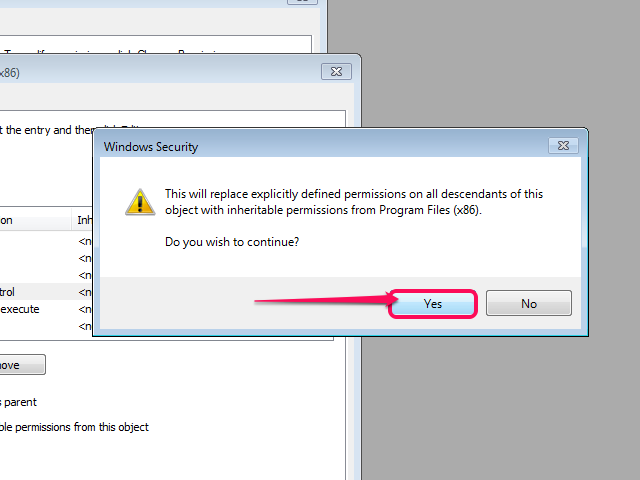 The Windows Security prompt (Windows 7).