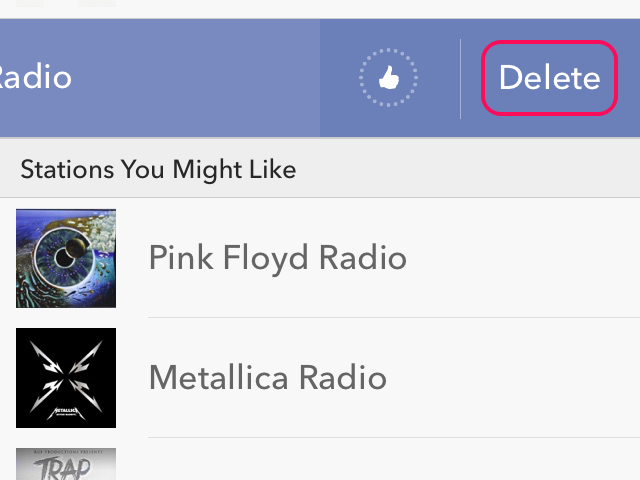 Delete the station.