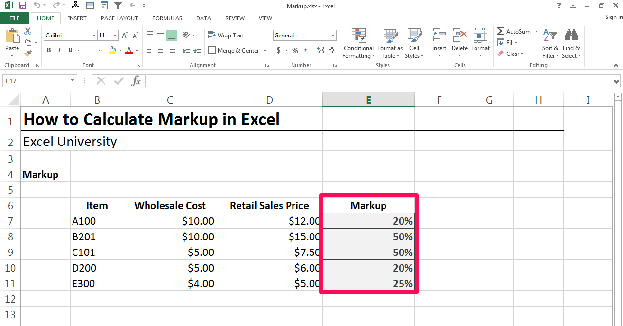 how to calculate gross profit margin using excel