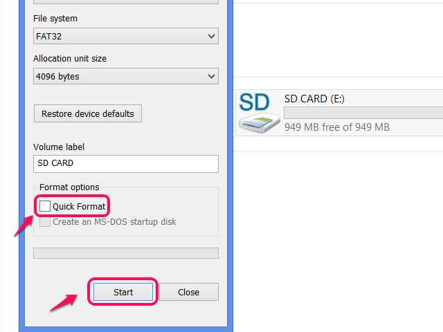Software to Format 64 GB SD Card to FAT32