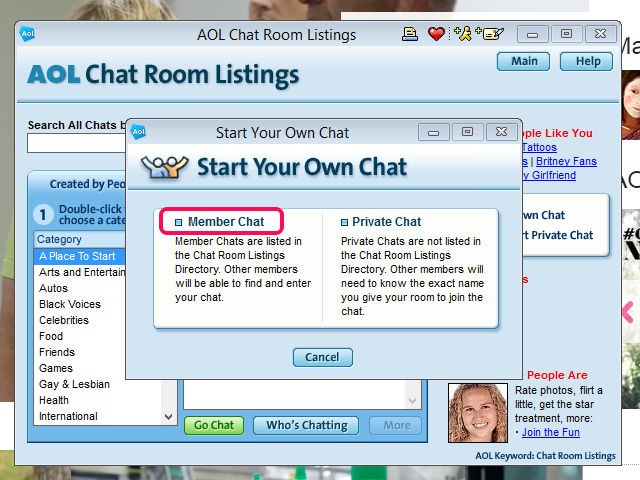aol dating chat rooms