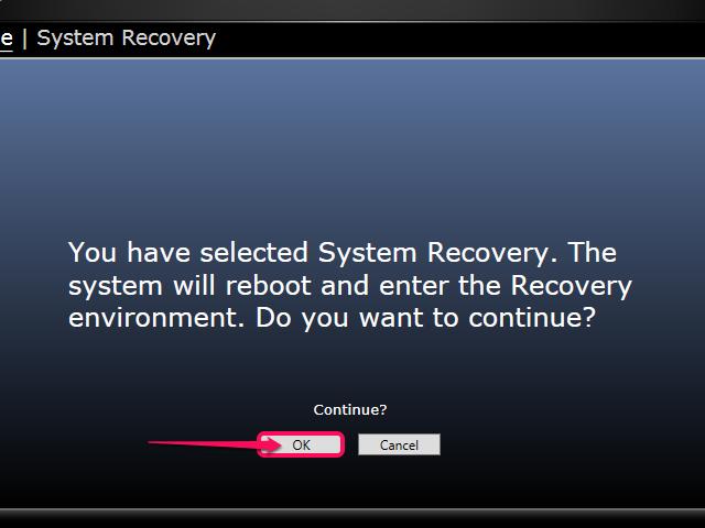 Click OK to reboot.