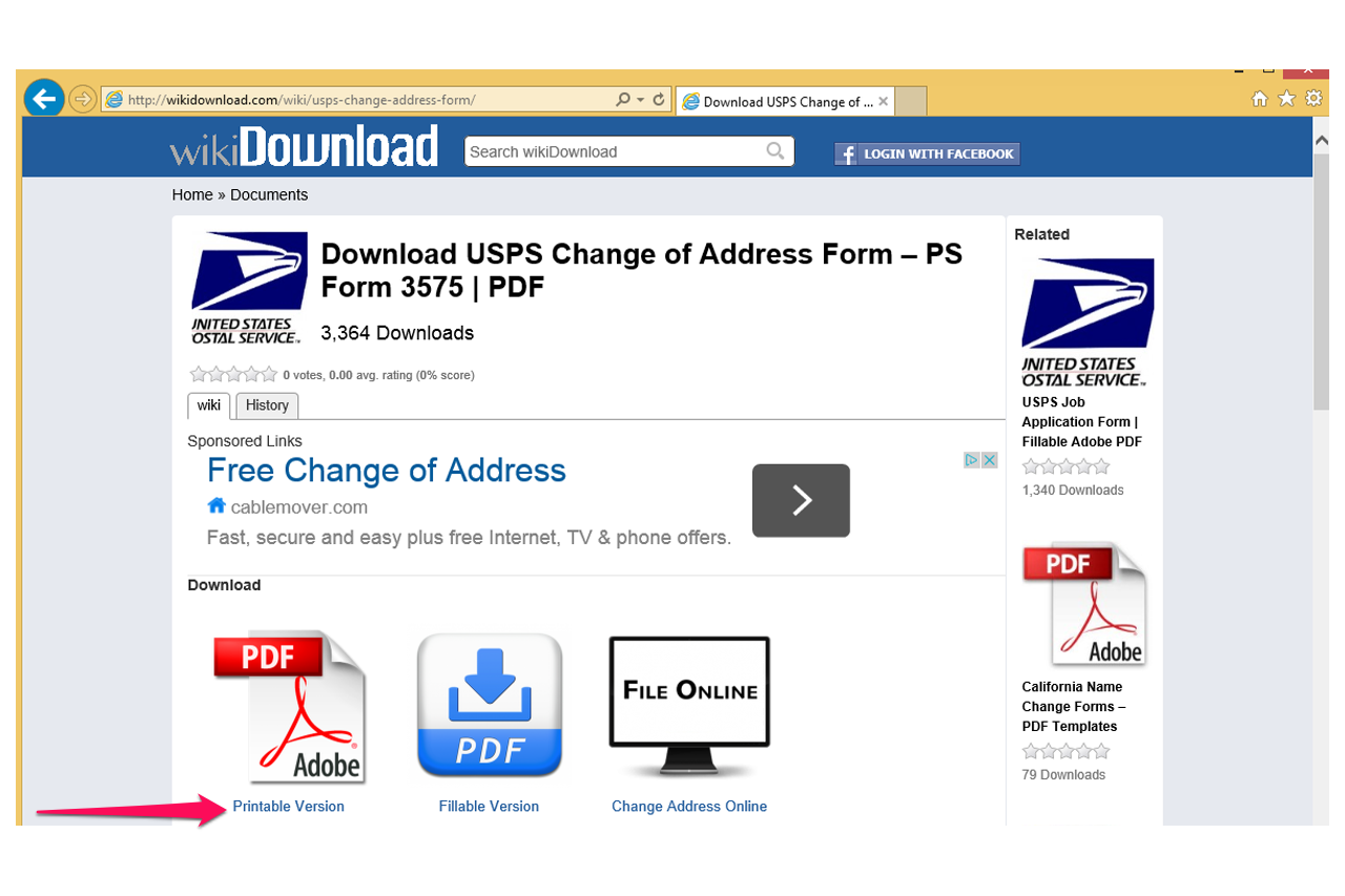 Simplicity image within usps change of address forms printable