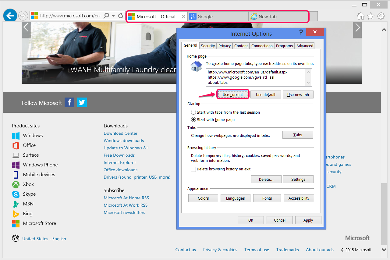 How To Set A Homepage In Internet Explorer