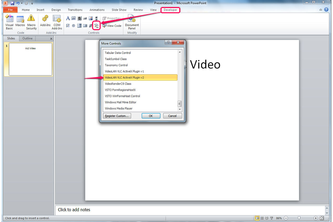 insert a pdf file into powerpoint 2010