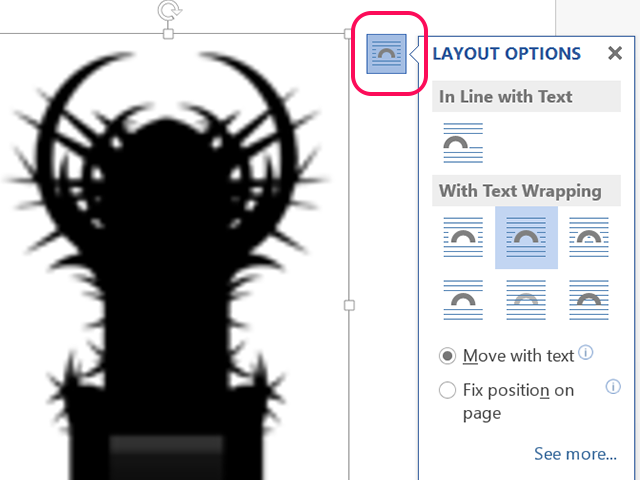 Change an image's layout.