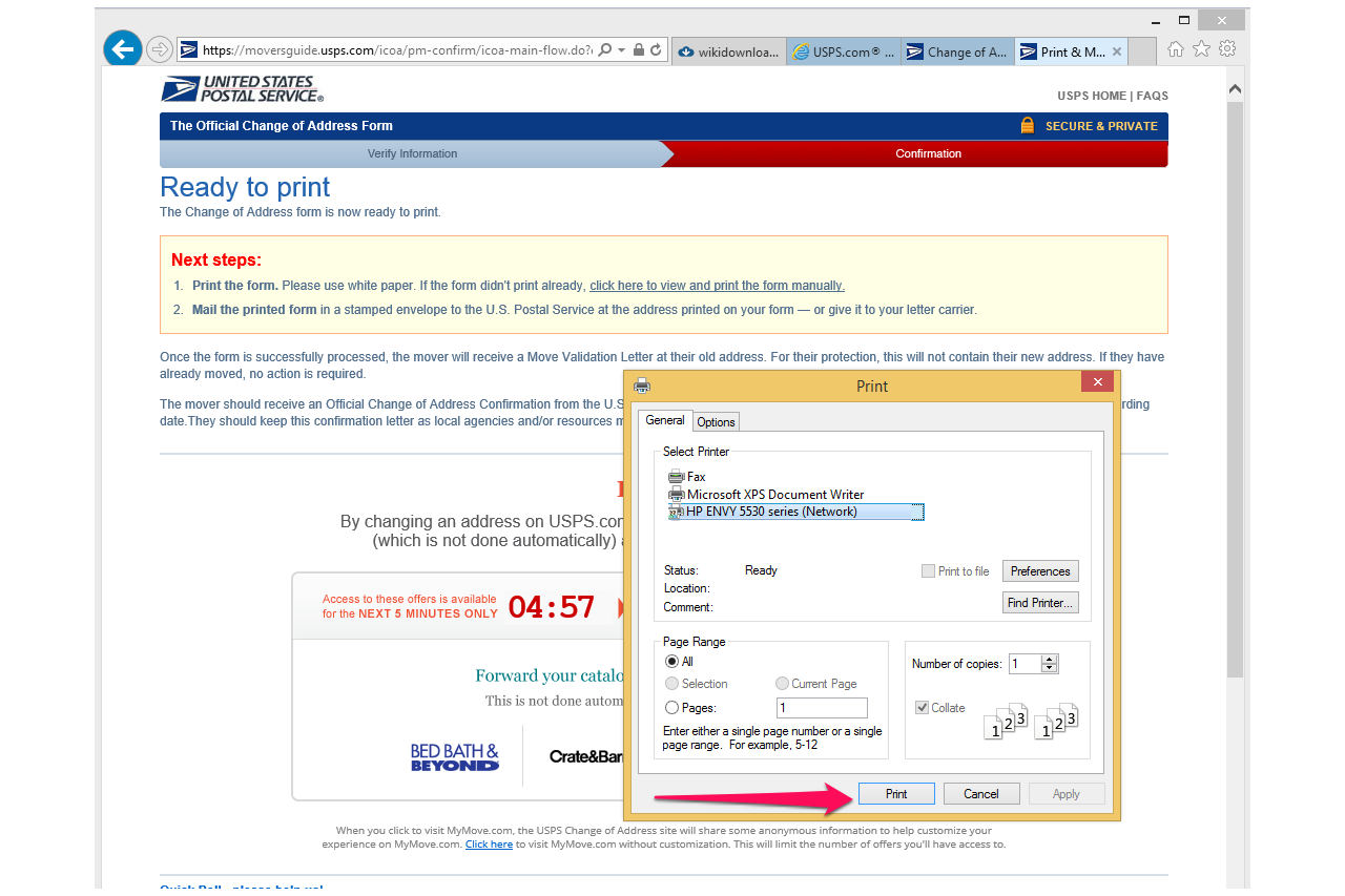 Usps Change Of Address Form Pdf Pictures to Pin – Printable Change of Address Form