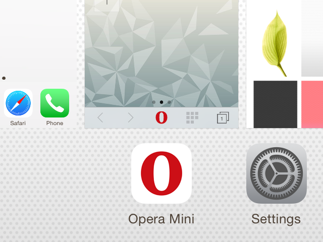Scroll through the recent app list.