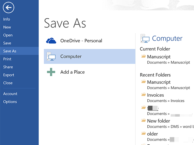 Save the Word document as a new file.