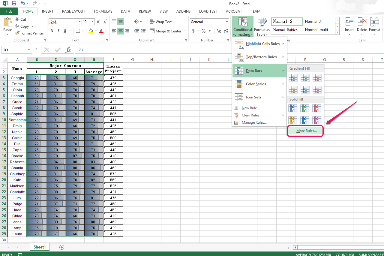 how to make excel highlight the current day