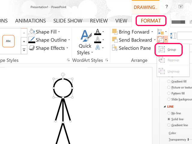how to make stickman animation in powerpoint
