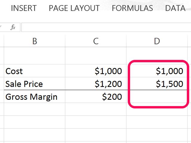 Excel worksheet functions annual return formula