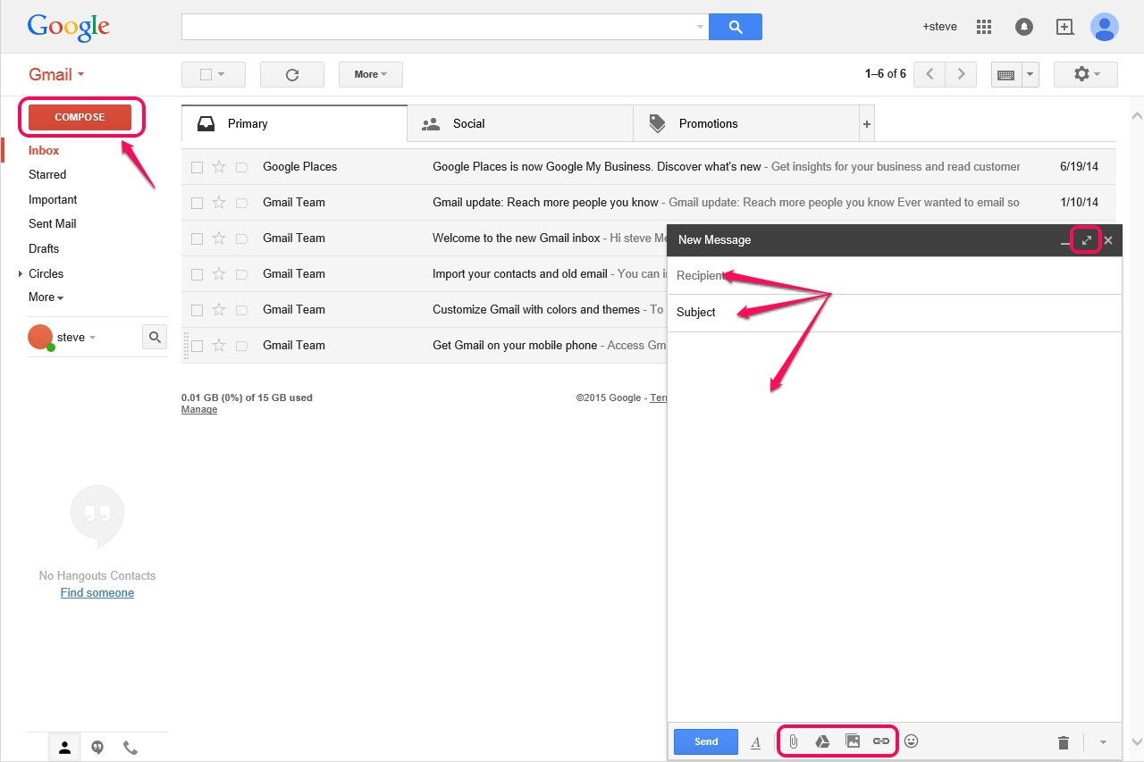 Gmail themes for mobile - Review The Options To Add Your Photos