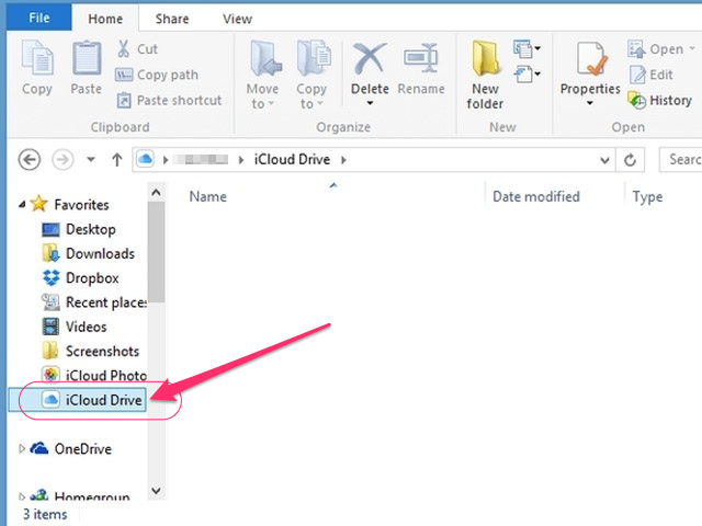 Drag and drop files into the iCloud Drive folder.