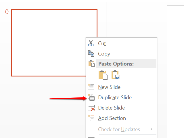 Duplicate the slide to create a second slide.