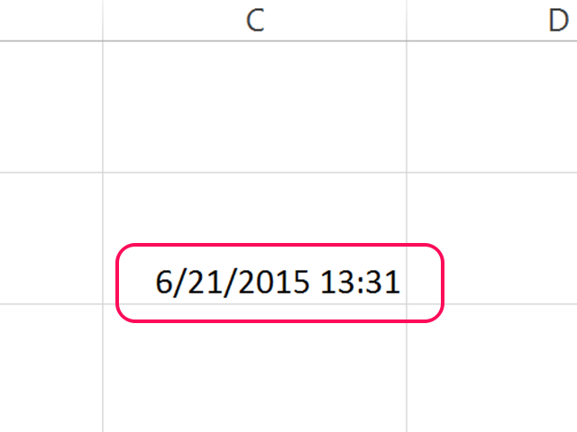Formulas like the NOW() formula are refreshed with F9.