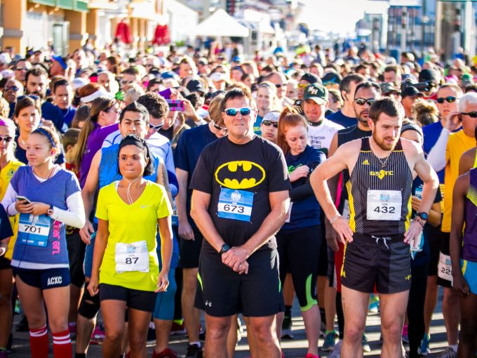 Athletes, Running, Boardwalk, Atlantic City, Marathon, Endurance, Race, Fun, April Fools, Event