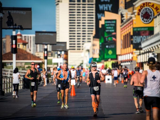 Athletes, Running, Boardwalk, Atlantic City, Triathlon, Endurance, Race, Event