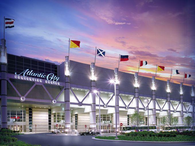 Atlantic City, Convention Center, destination, exterior, façade, meetings, trade shows, conferences, conventions